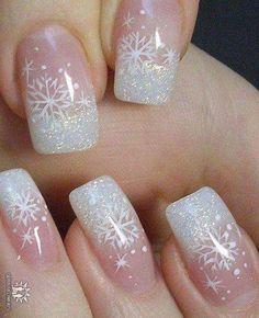 Snowflake Nails <3