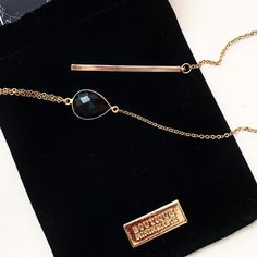 Lariat necklace in black onyx