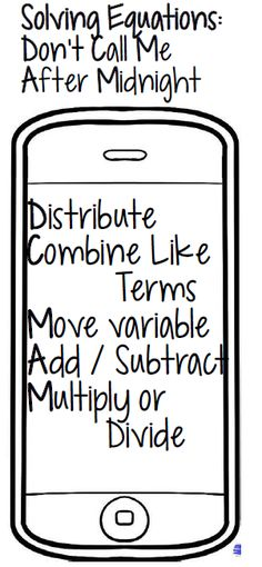 Math Dyal: Solving Equations Mnemonic Device