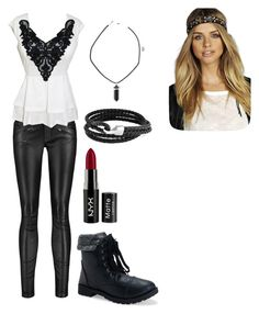 """""""Emerson Lynch"""" by hanna19134 on Polyvore featuring Maje, Aéropostale, Bling Jewelry, NYX and Boohoo"""