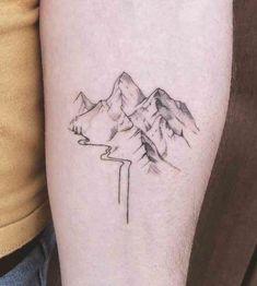 23 Remarkable Mountain Tattoos - Tattoo Insider Foot Tattoos, Cute Tattoos, Body Art Tattoos, Small Tattoos, Tattoos For Guys, Tattoos For Women, Flower Tattoos, Butterfly Tattoos, Sleeve Tattoos