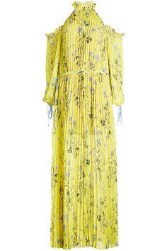 Self Portrait Printed Cold Shoulder Dress
