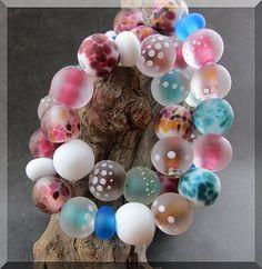 ~ Cher ~ (34+8) Handmade Lampwork  Beads Set By Soul Of Glass OOAK SRA #Lampwork