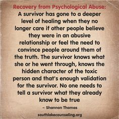 Remember - no one else needs to validate the abuse you've been through   #NPD abuse recovery