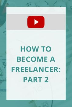 How do you actually go from being a freelancer on the side, to building a business? Check out this video to see what steps to take!