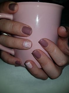 Dusty pink & lace nails 😍💅💓