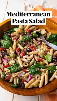 Best Salad Recipes, Vegetarian Recipes, Cooking Recipes, Delicious Salad Recipes, Healthy Vegetable Pasta Recipes, Pasta Salad Recipes Cold, Light Pasta Recipes, Vegetarian Pasta Salad, Healthy Pasta Salad