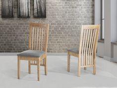 Drewniane krzesło tapicerowane - krzesło do jadalni, kuchni - 2 szt - JERSEY szary