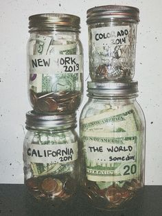 Saving idea for trips.