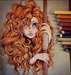 i wish they made her curls actually curly.