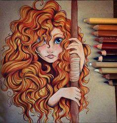 Imagem de art, disney, and drawing Disney Fan Art, Disney Love, Brave Disney, Merida Disney, Brave Pixar, Disney Drawings, Cool Drawings, Pencil Drawings, Drawing Disney