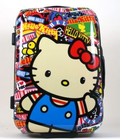 Hello Kitty Hardcase Sticker Luggage Front