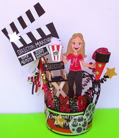 Hollywood style Birthday cake topper
