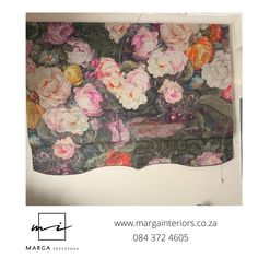 Office blinds for client in Paarl. Bold flowers in strong colors. My client transforms women's lives and brings healing and hope. Fabric from Hertex @ Paarl, Western Cape Office Blinds, Cape, Healing, Strong, Interiors, Colors, Flowers, Fabric, Painting