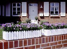 Emsa Blumenkasten LANDHAUS, Weiß, 100 x 20 x 16 cm: Amazon.de: Garten