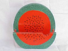 paper plate holders | watermelon plate holder holds standard paper plates $ 14 99 order Paper Plate Holders, Paper Plates, Wood Crafts, Watermelon, Woods, Woodland Forest, Wood Turning, Forests, Woodworking Crafts