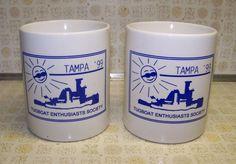 Coffee Mugs - 1999 Tampa Tugboat Enthusiasts Society - 2 Tea Cups - Headwind Mug #Headwind