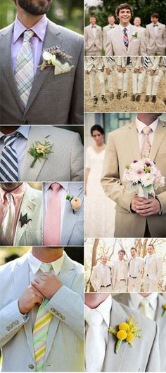 i love these alternatives to black or white tuxes <3