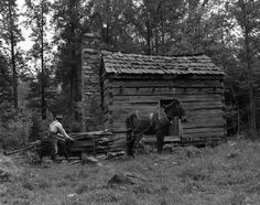 Jim Howardu0027s Cabin In The Appalachian Mountains. Jim Howard Could Always  Find Another Sledful Of