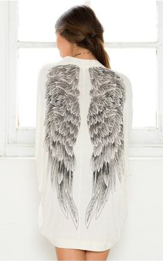 Additional tips Ayliss Angel Wings Print Back Batwing Oversized Kimono Cardigan Cover Up Blouse for Christmas Gifts Idea Online Shopping Kimono Coat, Kimono Cardigan, Blouse, Cardigan Rose, White Cardigan, Open Cardigan, Sexy White Dress, Bat Wings, Angel Wings
