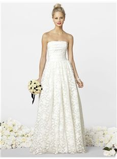 A-Line V-NeckLine Luxurious Sleeveless Square Lace Wedding Dresses Townsville