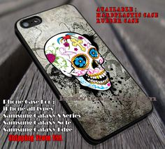 Sugar Skull on Cracked Wall iPhone 6s 6 6s  6plus Cases Samsung Galaxy s5 s6 Edge  NOTE 5 4 3 #art ii