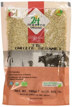 Organic White Sesame Seeds - ? USDA Certified Organic - ? European Union Certified Organic - ? Pesticides Free - ? Adulteration Free - ? Sodium Free - Pack of 2 X 7 Ounces (14 Ounces) - 24 Mantra Organic -- You can get additional details at the image link.