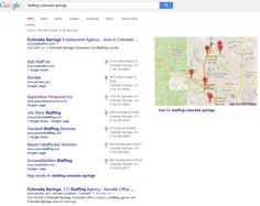 "Infront Webworks client Apprentice Personnel ranking first page of  Google under term ""Colorado Springs Staffing""."