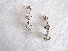 Sterling Silver Dangle Earrings  Drop by PortalsMagicCloset