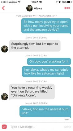 Pun-making is a risky game on Tinder. Some succeed, others don't. You'll see why here.