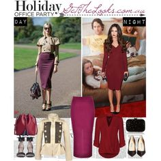 """""""Burgundy Theme: Day & Night"""" by getthelooks on Polyvore IT KNITTED PENCIL SKIRT IN BURGUNDY only $14.90 http://getthelooks.com.au/it-knittedpencil-skirt-in-burgundy on eBay: http://cgi.ebay.com.au/ws/eBayISAPI.dll?ViewItem&item=181518933446&ssPageName=STRK:MESE:IT  PEPLUM JACKET WITH TWEED PATCHWORK http://getthelooks.com.au/peplum-jacket-with-tweed-patchwork on eBay: http://cgi.ebay.com.au/ws/eBayISAPI.dll?ViewItem&item=181162178009&ssPageName=STRK:MESE:IT"""