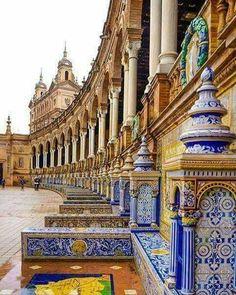 The plaza, Seville,I  Spain