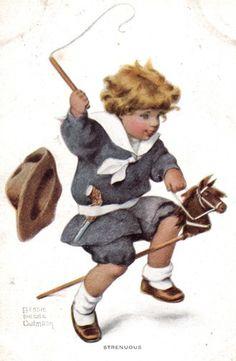 "Bessie Pease Gutmann, circa 1907, ""The Strenuous Life"", illustrator."