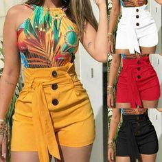 Laamei 2019 sommer frauen shorts sexy damen hohe taille casual buttom b - mompreg Women Shorts - mid Hot Shorts, Skinny Shorts, Belted Shorts, Hot Pants, High Waisted Shorts, Summer Shorts, Loose Shorts, Casual Shorts, Black Shorts