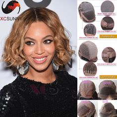 Find More Human Wigs Information about Beyonce hairstyle T4/27 color ombre human hair bob wig middle part natural loose curl short human hair bob wigs for black women,High Quality wig heads for sale,China wig parts Suppliers, Cheap wig clip from xcsunny wigs on Aliexpress.com