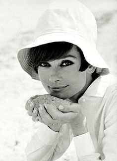 "The Fashion of Audrey Audrey Hepburn photographed by Pierluigi Praturlon on the French Riviera, during the filming of ""Two for the Road"", in June 1966."