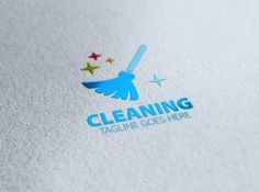 Cleaning Logo by eSSeGraphic on @creativemarket