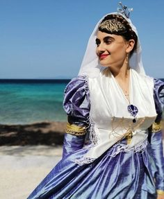 Mediterranean People, Folk Costume, Costumes, Folk Clothing, Greek Culture, Traditional Outfits, All Things, Saree, Greek Mythology