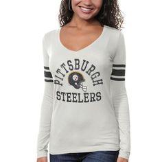 '47 Brand Pittsburgh Steelers Ladies Touchdown Premium Long Sleeve T-Shirt!