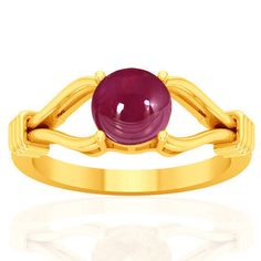18k Y Gold Natural 2.13 Cts Unheated Blood Red Ruby Diamond Ladies Wedding Ring…