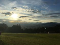 Radsberg - Blick Klagenfurt trüber Tag.