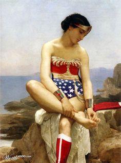 mash up super heros art 10 Les super héros incrustés dans les grands classiques de l'Art