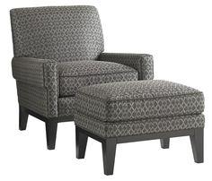 Carrera Giovanni Chair and Ottoman Set by Lexington