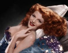 Rita Hayworth by sourpatchdarling, via Flickr Possible inspiration for Curtain Call Ball