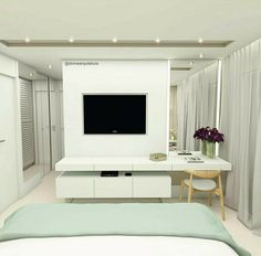 Trendy Bedroom Dresser Styling With Tv Tv Cabinets Bedroom Dresser Styling, Bedroom Dressers, Bedroom Furniture, Bedroom Decor, Bedroom With Bath, Master Bedroom, Trendy Bedroom, Modern Bedroom, Tv Unit Bedroom