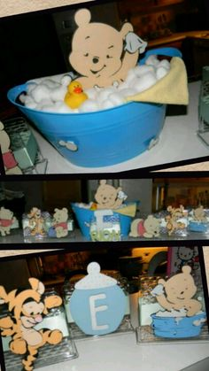 Winnie The Pooh Themes, Winnie The Pooh Birthday, Baby Shower Fun, Baby Showers, Baby Gender Reveal Party, Baby Wedding, Baby Disney, Baby Shower Decorations, Baby Gifts