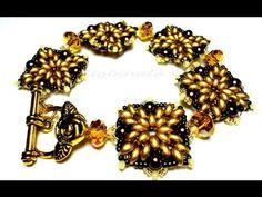 Bracelet or earrings video tutorial Healing Bracelets, Seed Bead Bracelets, Jewelry Patterns, Bracelet Patterns, Beaded Earrings, Beaded Jewelry, Jewellery, Super Duo Beads, Twin Beads