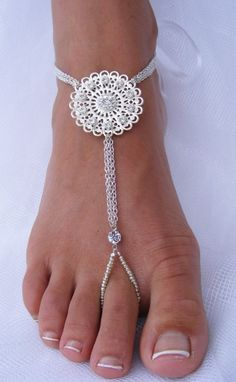 The Modern Princess ♕ :: Barefoot Sandal Jewelry - by PassionflowerJewelry on Etsy
