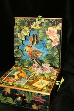 Amazing altered art jewelry box! So clever by Laura Denison #DIY #graphic45 #jewelry