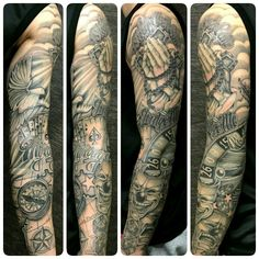 #SkinEvolutionTattoo #KONOMI #konomiangel #tattoo #blackandgray #realistic #Chicano #sleeve #タトゥー #刺青 #チカーノ